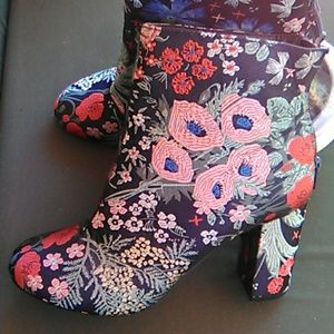 Attention Embroidered Booties